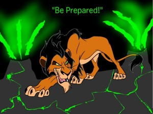 Scar Be Prepared