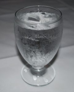 cup of cold water
